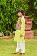 Boys Vest and Shalwar Kurta set OBK11