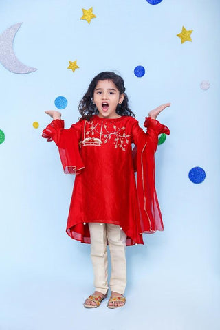 OFW138 Girls Kurti + Dupatta + Bottom