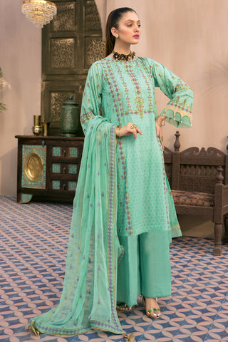 Gul Ahmed Lawn 2020 Stitched 3 Piece PM#347