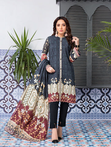Stitched Printed 3 Piece KLA-9083