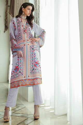 Stitched 2 Piece Embroidered Silk DGT # 88