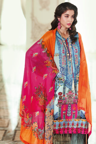 Stitched 3 Piece Embroidered Silk DGS # 81