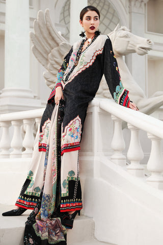 Stitched 3 Piece Embroidered Silk DGS # 86