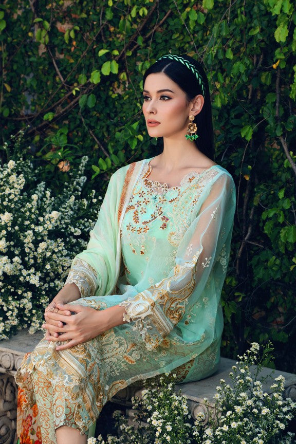 Gul Ahmed Festive Collection 2018 Stitched 3 Piece Ss # 165