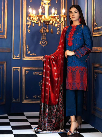 GUL AHMED WINTER VL-82 Emb. Velvet