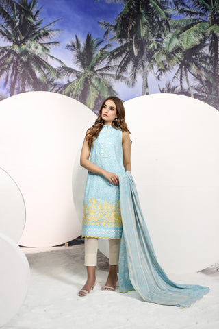 Shirt Dupatta Embroidered SS12.1-2IN GFSU1835