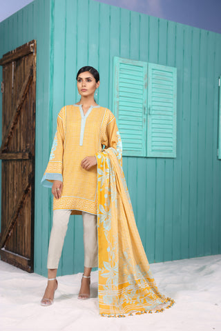 Shirt Dupatta Embroidered SS13.1-2IN GFSU1837