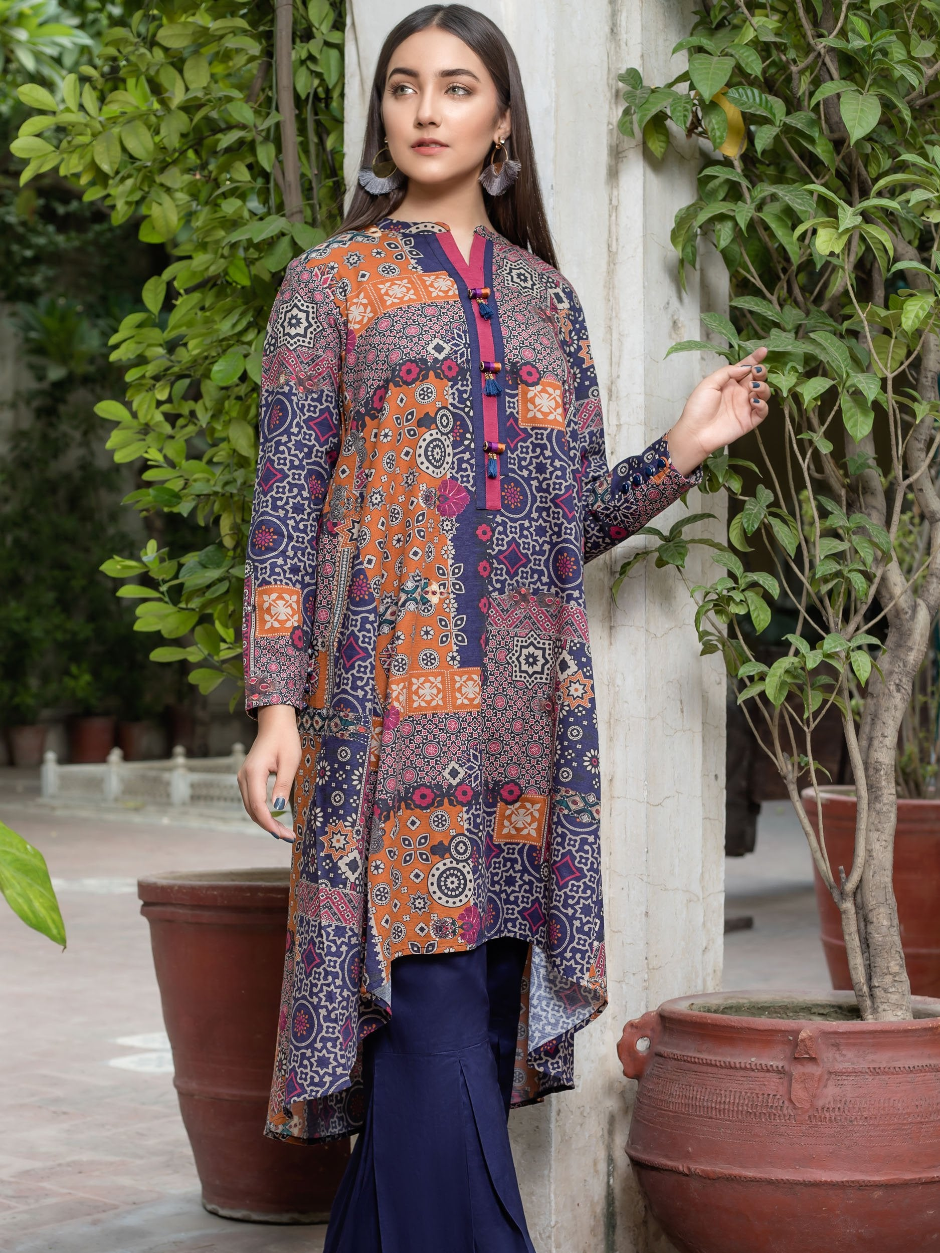 Limelight Stitched Winter Kurti U0858