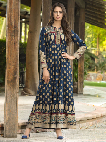 Limelight Stitched Winter Kurti U0940B
