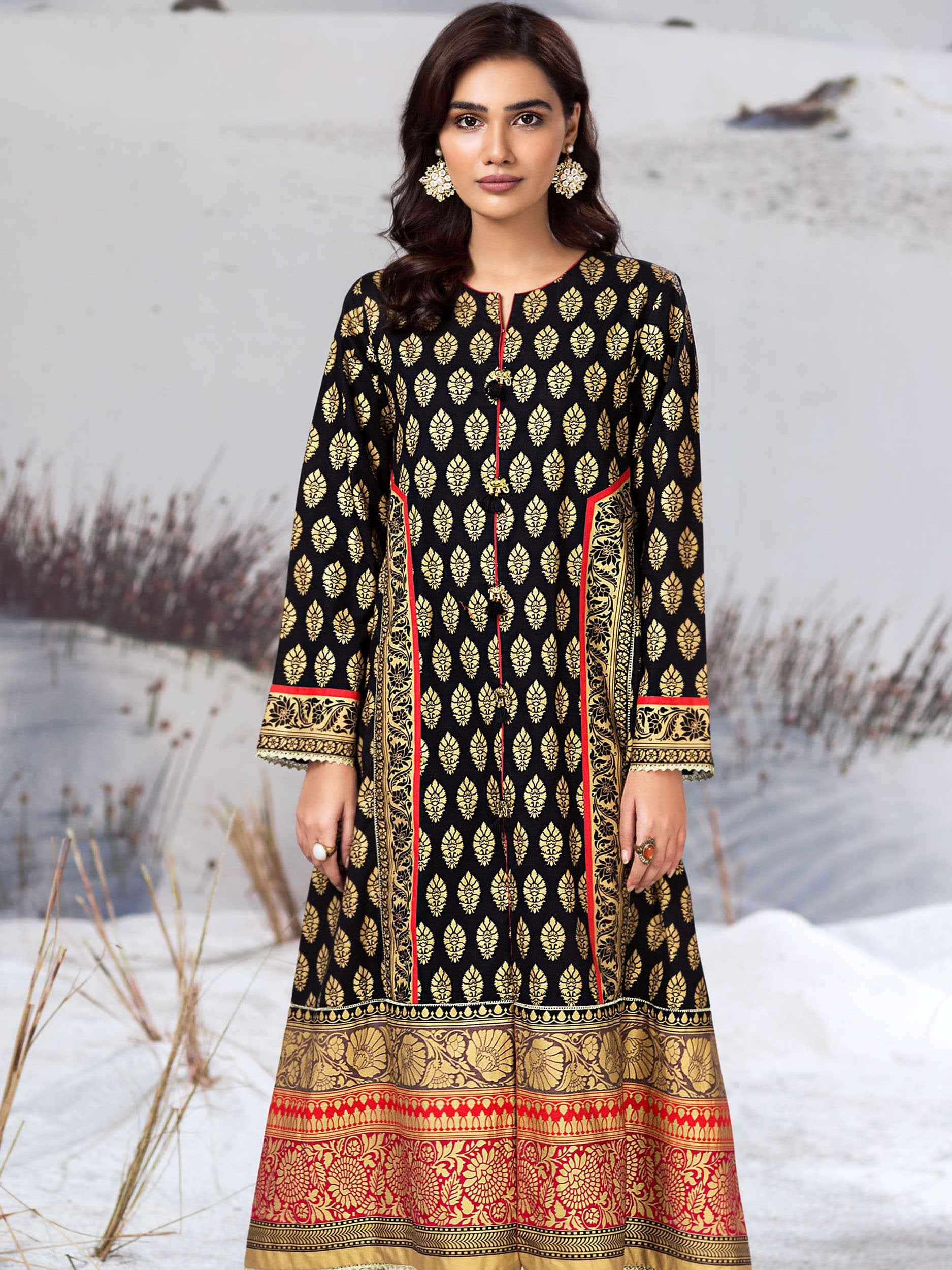Limelight Stitched Winter Kurti U0945