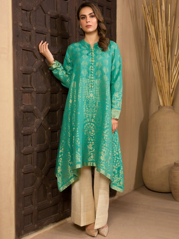 Limelight Stitched Winter Kurti U0969