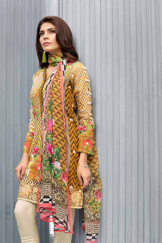 GUL AHMED LAWN STITCHED 3 PIECE 2019 BM#67