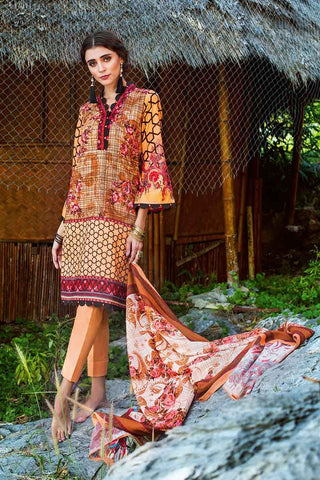 GUL AHMED LAWN STITCHED 3 PIECE 2019 CL#460B