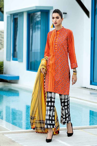 GUL AHMED LAWN STITCHED 3 PIECE 2019 CL#465