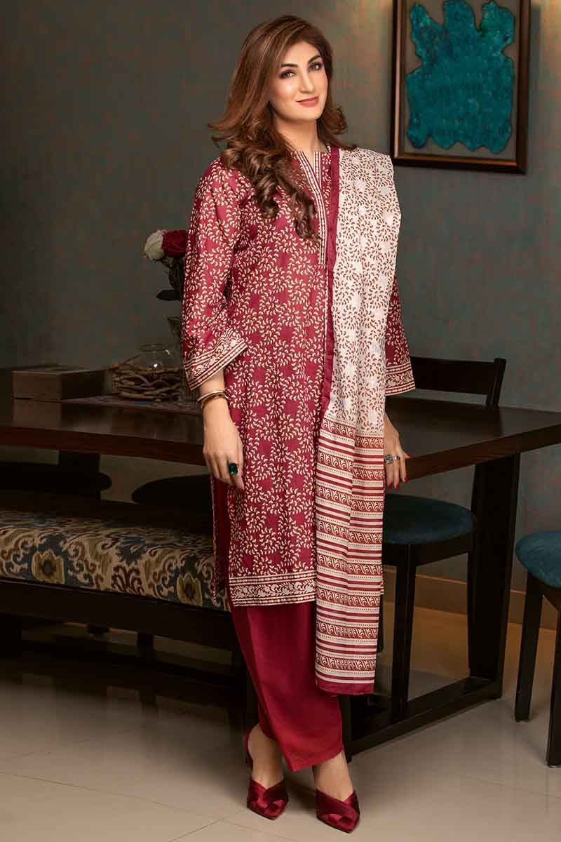 GUL AHMED LAWN STITCHED 3 PIECE 2019 CL#485A