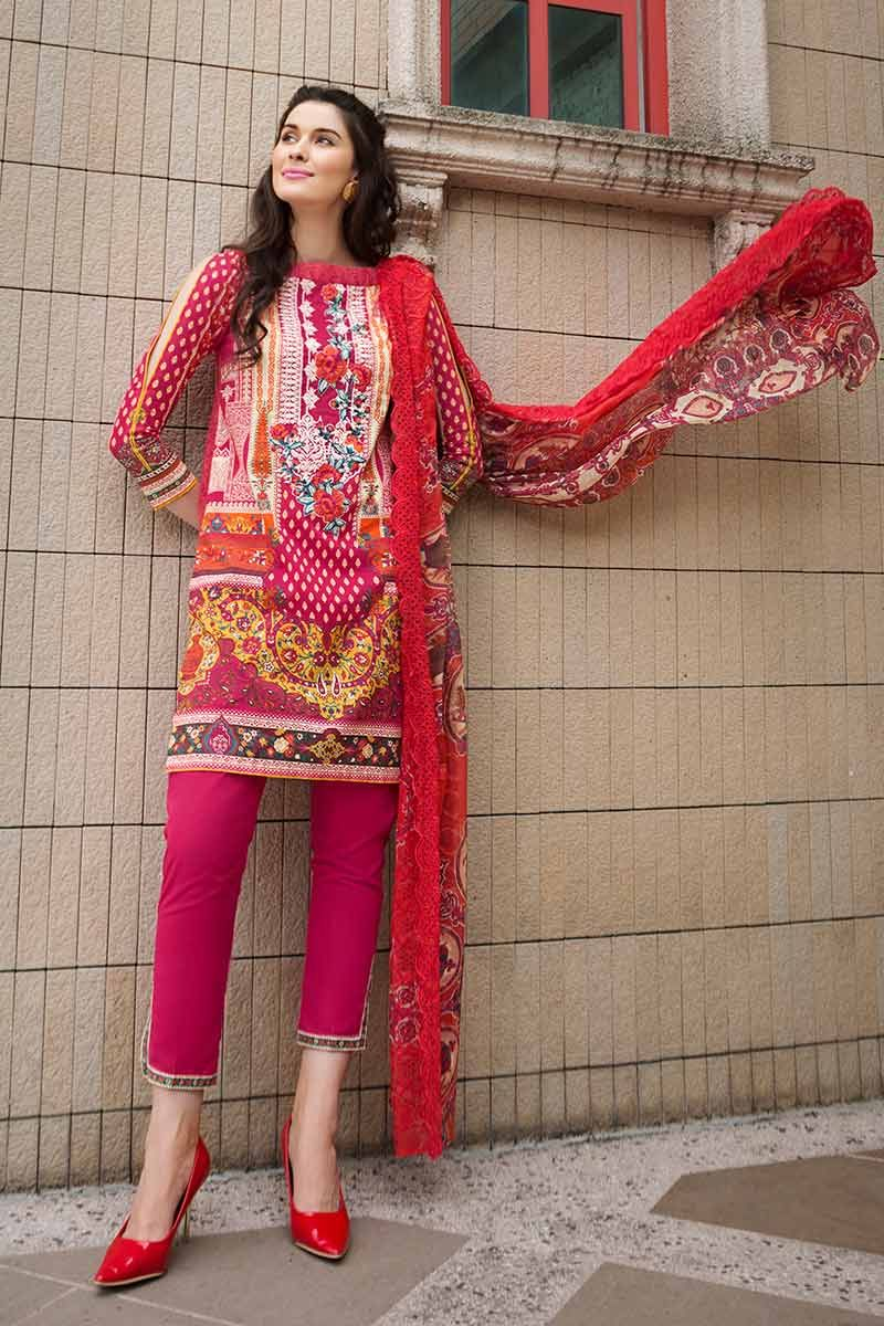 GUL AHMED LAWN STITCHED 3 PIECE 2019 CT#252