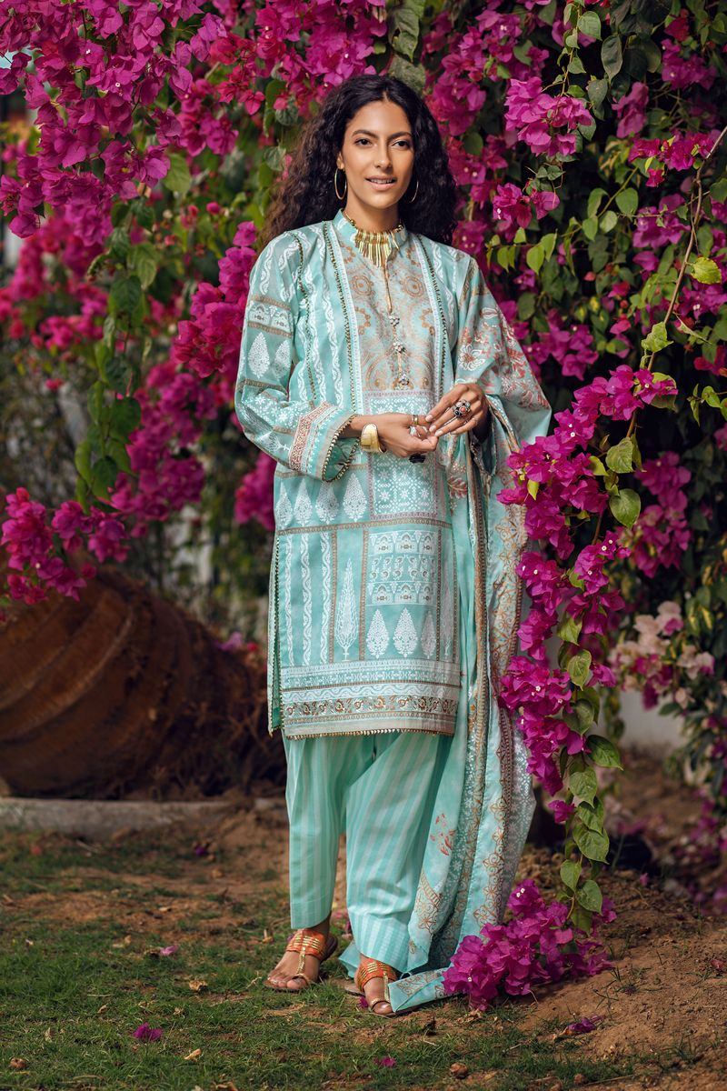 Gul Ahmed Lawn 2020 Stitched 3 Piece CL#800A