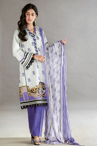 Gul Ahmed Lawn 2020 Stitched 3 Piece BCT#25
