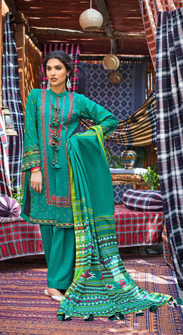 Stitched Khaddar 3 Piece Gul Ahmed K#99