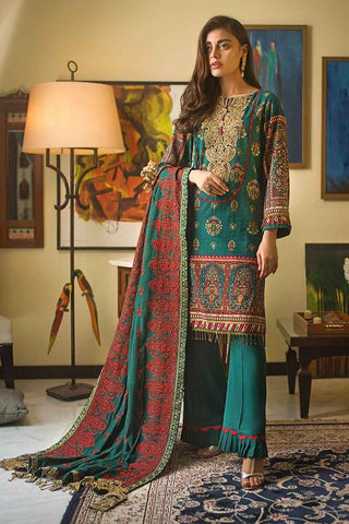 Gul Ahmed Stitched Winter 3 Piece  DK#09