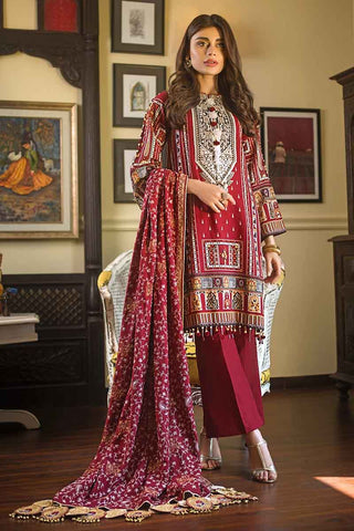 Gul Ahmed Stitched Winter 3 Piece  DK#07