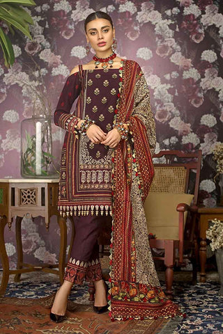 Gul Ahmed Stitched Winter 3 Piece  K#84