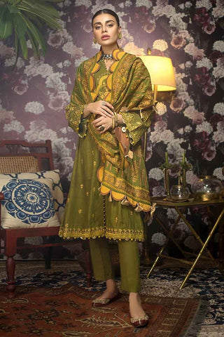 Gul Ahmed Stitched Winter 3 Piece  K#82