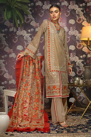 Gul Ahmed Stitched Winter 3 Piece  K#85
