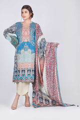 Printed Lawn 3 Pcs Suit MBC93P-011