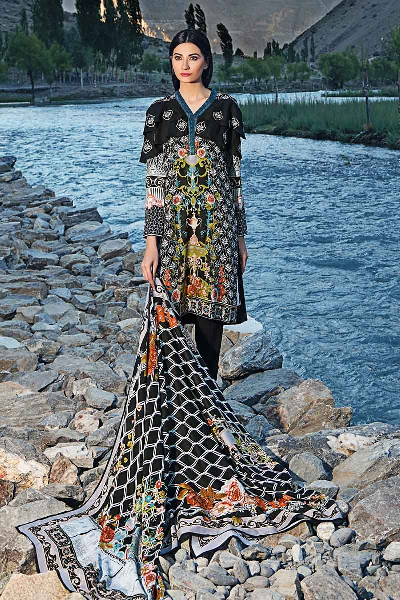 Gul Ahmed Stitched Winter 3 Piece  M#20B
