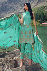 Gul Ahmed Stitched Winter 3 Piece  DK#03