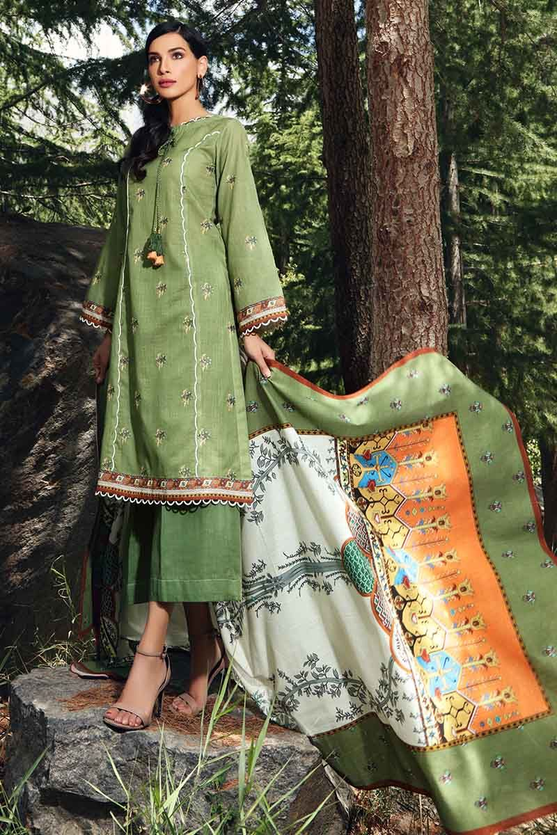 Gul Ahmed Stitched Winter 3 Piece  K#52