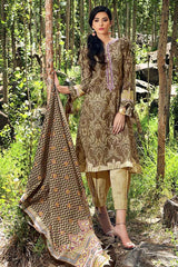 Gul Ahmed Stitched Winter 3 Piece  K#49