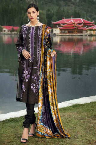 Gul Ahmed Stitched Winter 3 Piece  MV#19