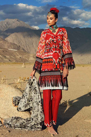 Gul Ahmed Stitched Winter 3 Piece  K#62