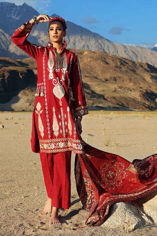 Gul Ahmed Stitched Winter 3 Piece  K#71