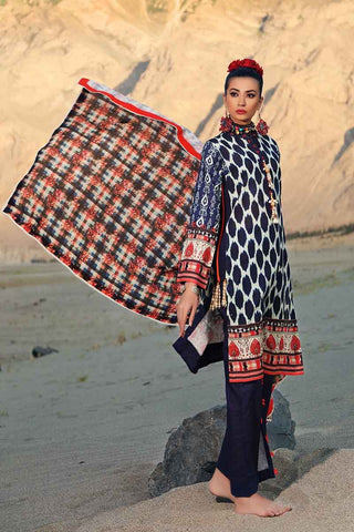 Gul Ahmed Stitched Winter 3 Piece  K#63