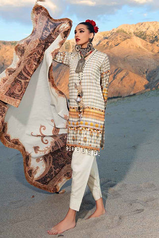 Gul Ahmed Stitched Winter 3 Piece  K#64