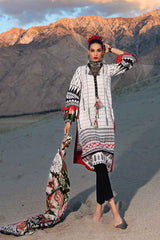 Gul Ahmed Stitched Winter 3 Piece  K#61