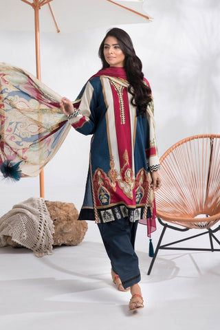 Stitched 3 Pieces Suit Ethnic Twist A 15