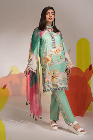 Stitched 3 Pieces Suit Wonder Mint 19