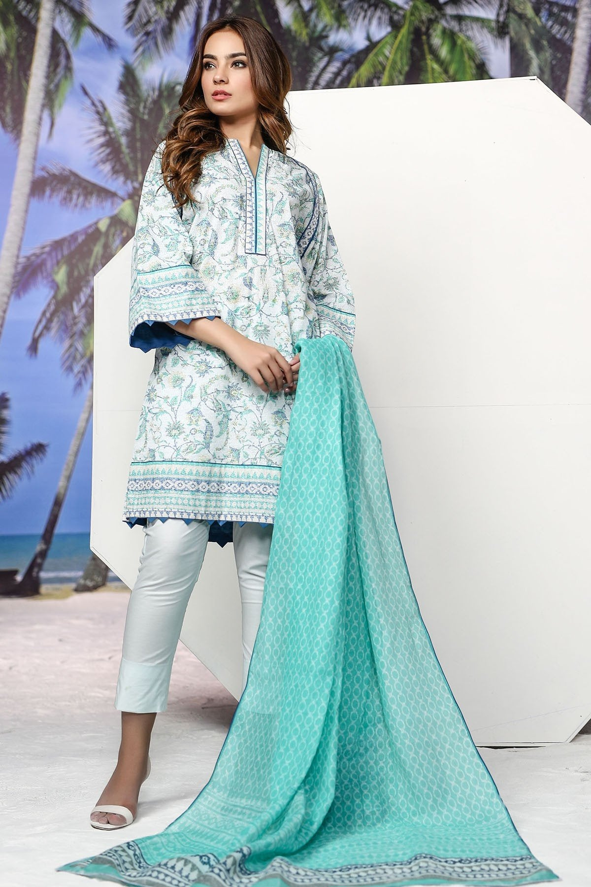 Shirt Dupatta Printed SS10.1-2IN GFSU1819