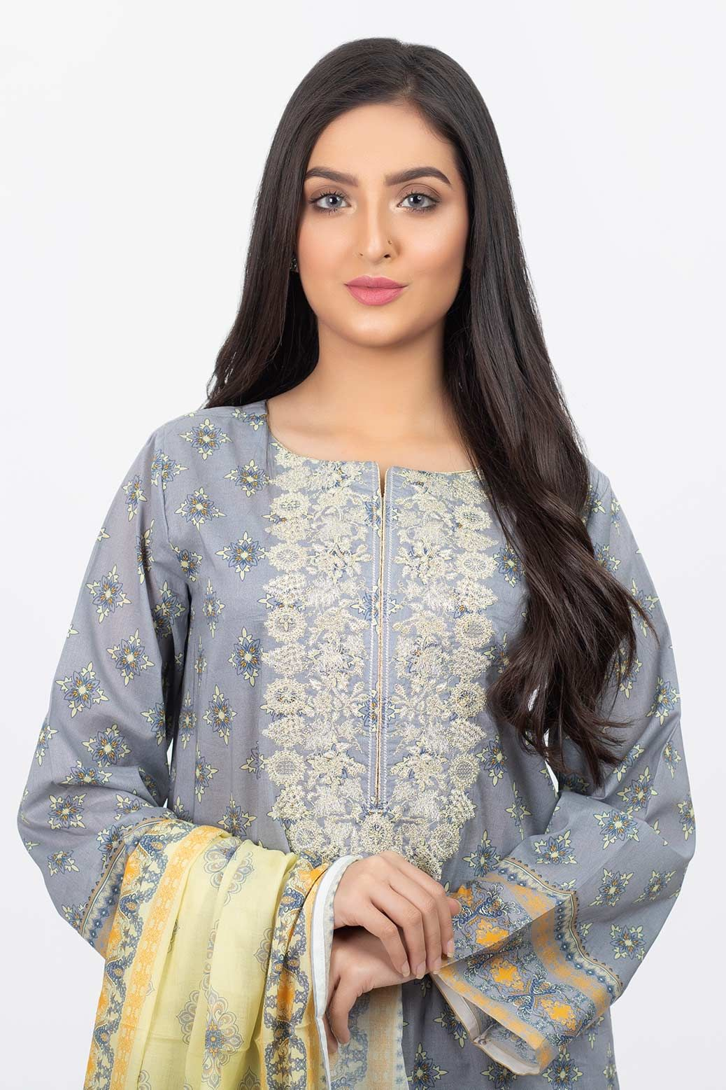 STITCHED 3 PC SSK203P024 GRAY