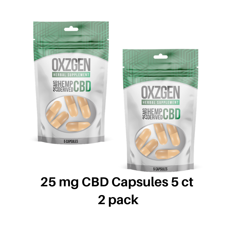 25 MG CBD Capsules 5 CT 2 Pack