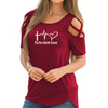 Faith Hope Love Strappy Cold Shoulder T-Shirt