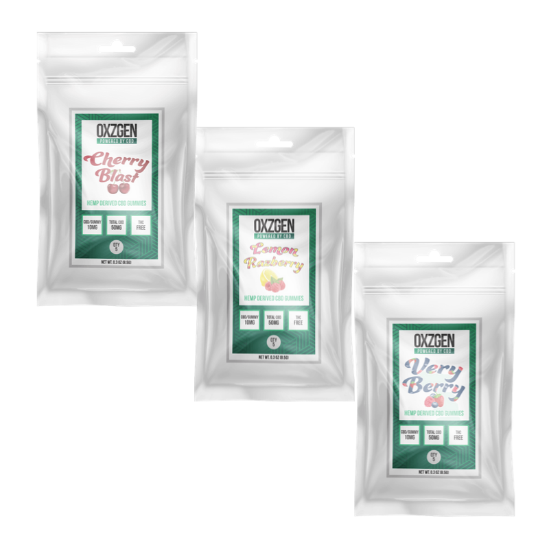Assortment CBD Gummies 5 CT (3 Pack)