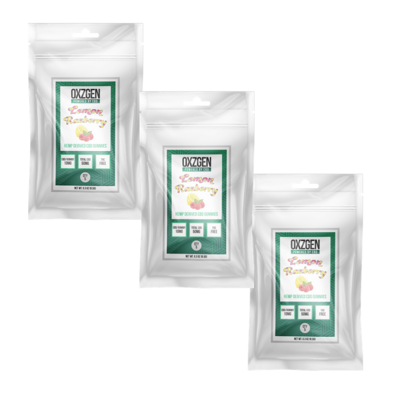 Lemon Razberry CBD Gummies 5 CT (3 Pack)