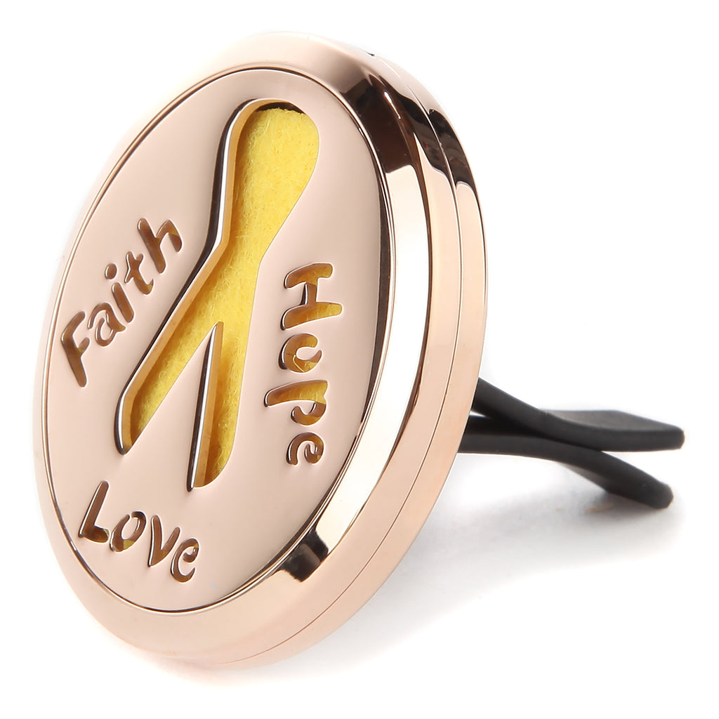 Car Diffuser Aromatherapy Cancer Awareness Faith Hope Love