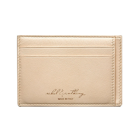 'Audace' Card Holder - Paglierino/Camel