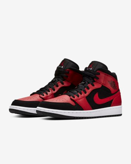 Air Jordan 1 Mid 'Black/Gym Red'
